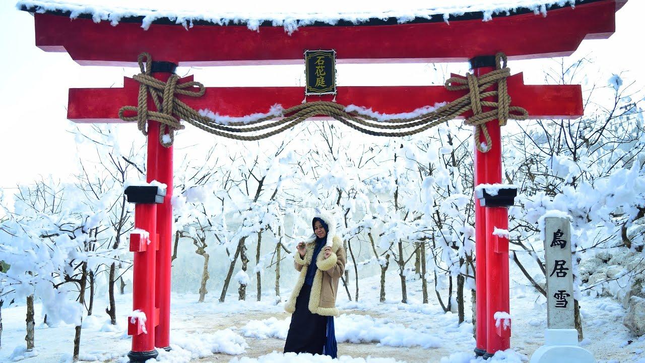 Wisata Salju Ala Jepang di Batu Flower Garden Coban Rais Batu Malang
