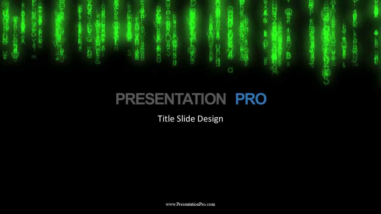 new template matrix rain - youtube, Powerpoint templates