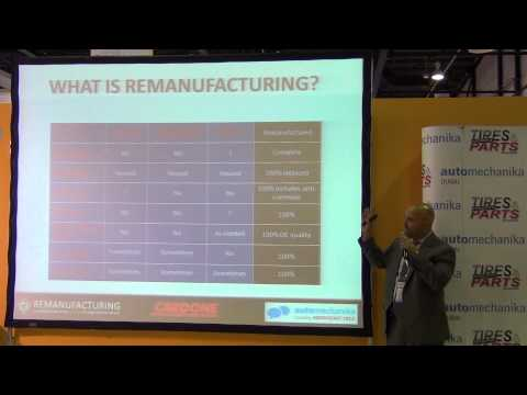 Session on Remanufacturing  Speakers Oscar de Villefranca Dil Kulathum Jamieson Nunn