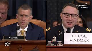 WATCH: All the key moments from the Vindman, Williams Trump impeachment hearing in 15 minutes