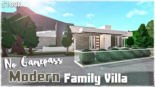Bloxburg   No Gamepass Modern Family Villa    House Build [Roblox]