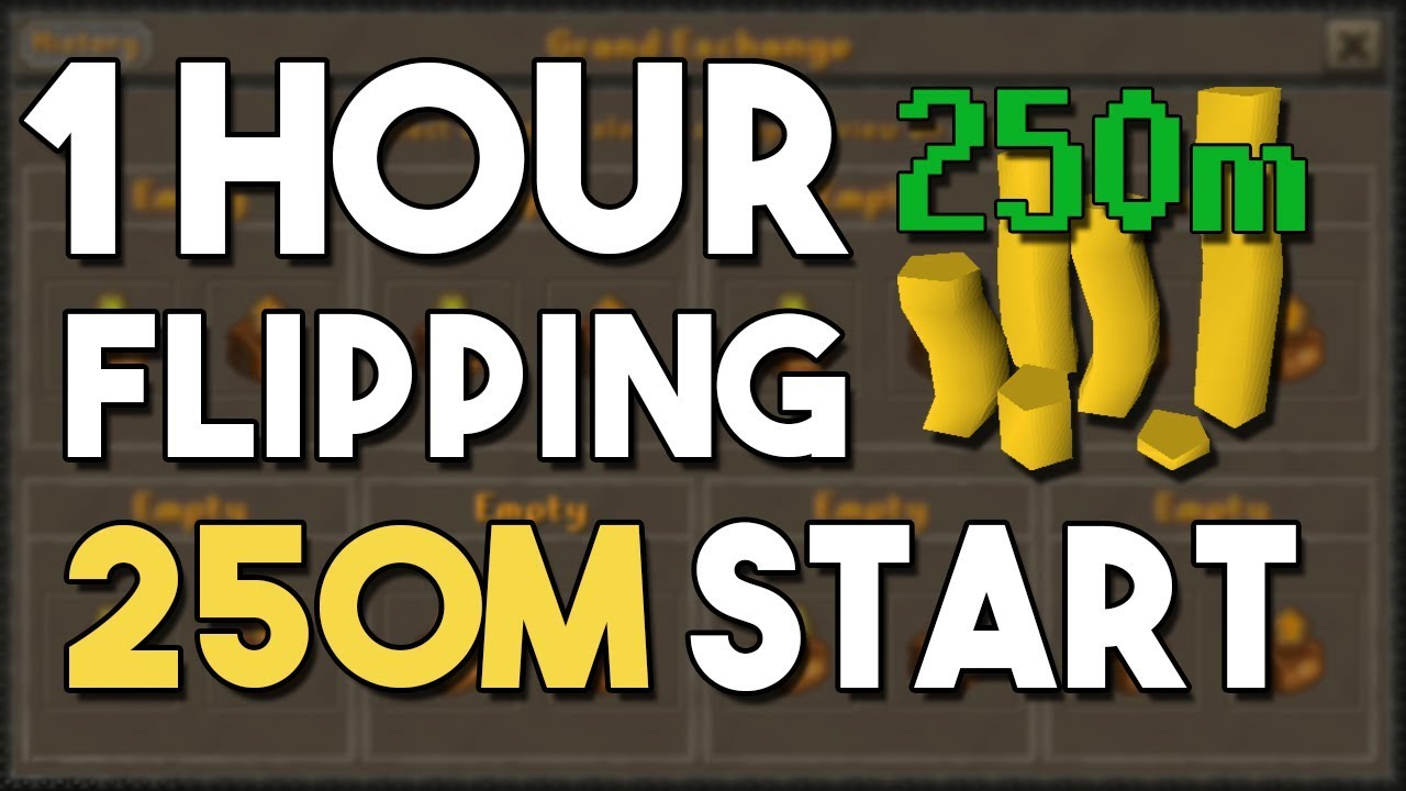 Flipping High Volume/High Margin Items with 250M! - A 1 Hour Flipping  Challenge! [OSRS]