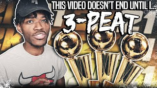THE VIDEO DOESNT END UNTIL I COMPLETE A 3 PEAT IN NBA 2K21