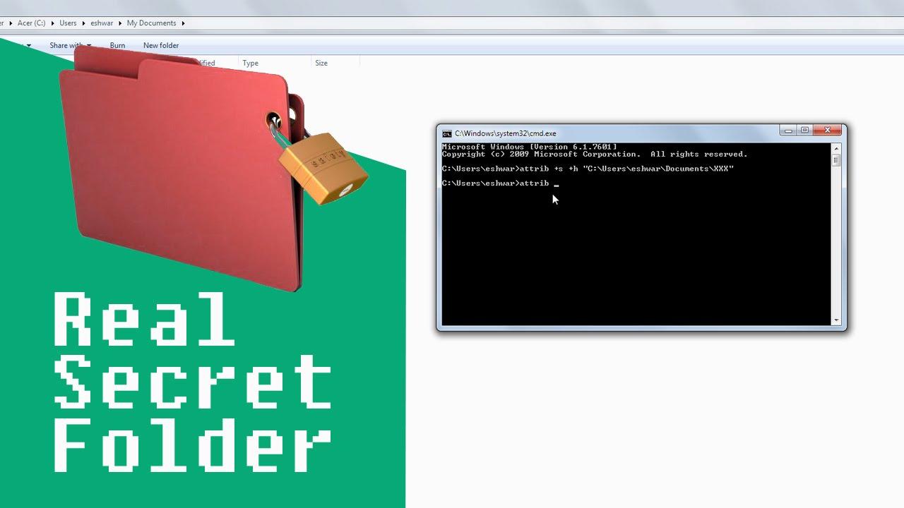 How to make a hidden folder
