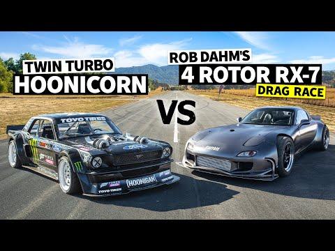 Ken Block Vs Rob Dahm!? 1,240hp 4 Rotor AWD RX-7 is our Wildest Battle Yet // Hoonicorn Vs the World