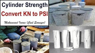 How to Convert KN to PSI in Cylinder Compression Test