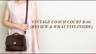 VINTAGE COACH COURT PURSE: TRY-ON, REVIEW, & WHAT FITS INSIDE