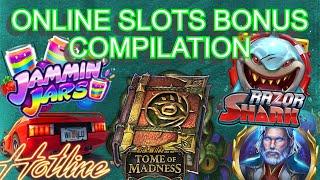 Online slots bonus compilation - Jammin Jars, Tome of Madness, Razor Shark + More