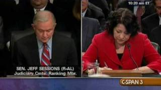 Sen. Sessions Questions Judge Sotomayor on Judicial Activism