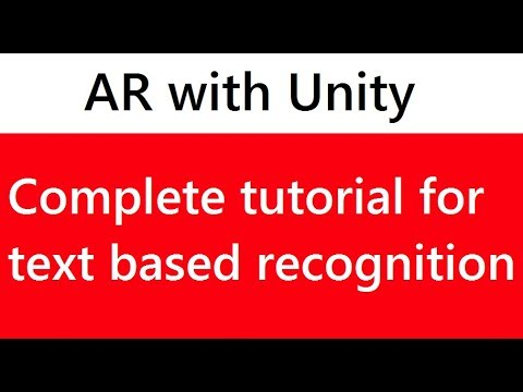 Unity tutorial for beginners | Text based recognition augmented reality with Unity and Vuforia