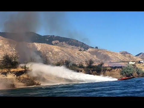 B.C. 'heroes' fight wildfire with 1,000-horsepower jet boat