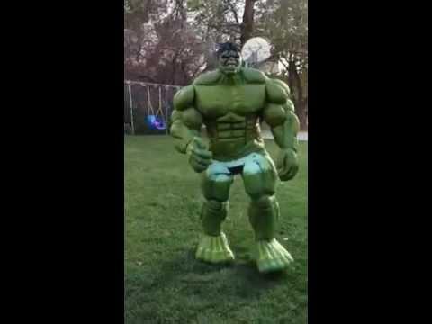 Hulk Costume Latex Painted.MOV