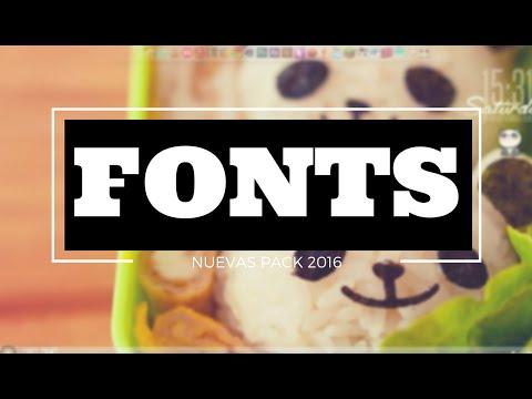 FONTS NUEVAS ✖ Pack 2016 + Cursores Dango ♡