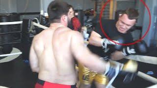 Бой Тамаев vs Тарасов в полную силу. Жёстко зарубились. Нокаут Тарасова от Чеченца