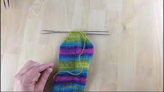 Как связать носки спицами. Мысок носка. Урок 5