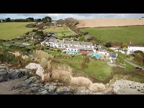 The Nare Hotel, Carne Beach, Veryan-in-Roseland, Cornwall 2017, DJI Mavic Pro