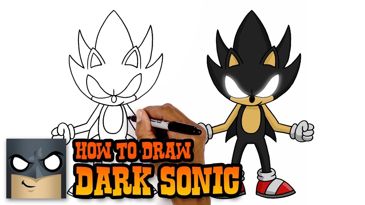 How to Draw Dark Sonic | Art Tutorial - YouTube