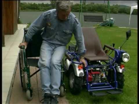 Bsm sillas de ruedas todo terreno con motor honda video en for Sillas para motos