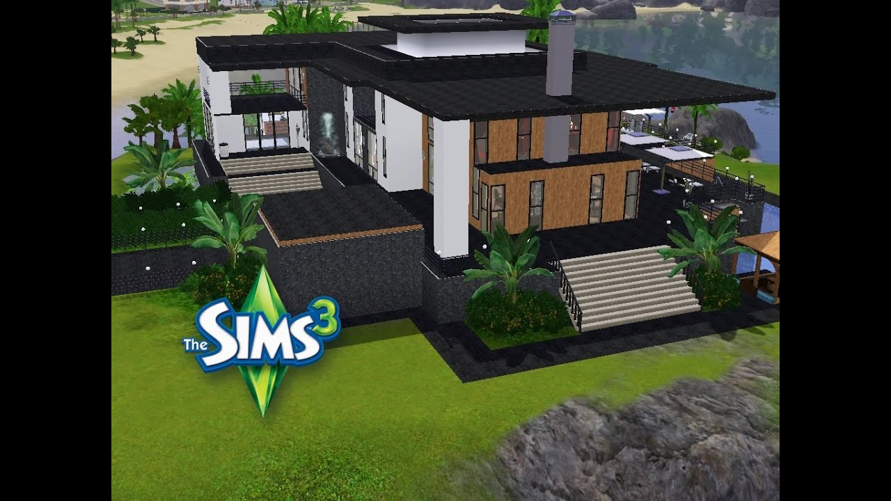 sims 3 haus bauen let 39 s build modernes traumhaus mit blick auf 39 s meer youtube. Black Bedroom Furniture Sets. Home Design Ideas