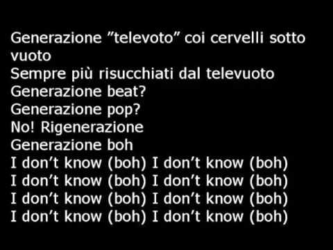Generazione Boh Fedez (lyrics)