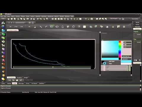 X-Producer - Graphic Editor - Basic Shape Creation Early Workings (Cursor Error)