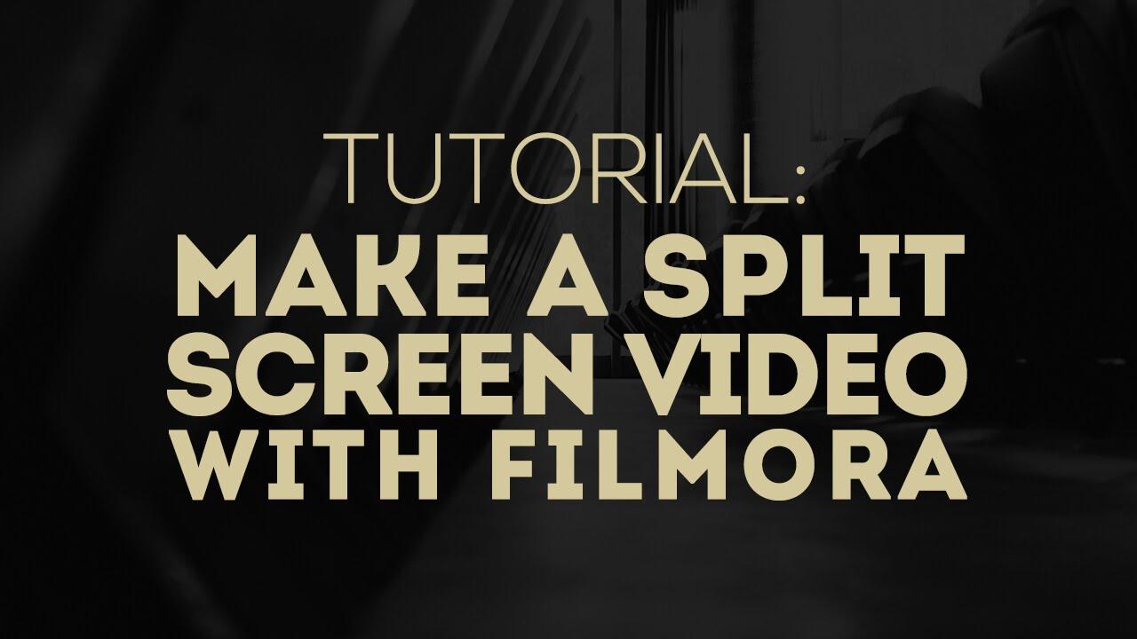 filmora custom split screen
