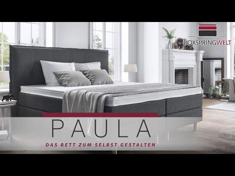 Boxspringbett In 180x200 Und Jeder Anderen Größe - Paula Ist Für Alle Da!