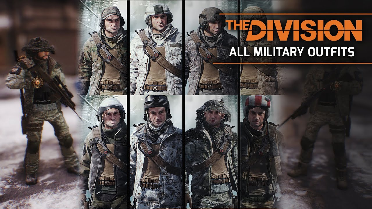 the division  all military  marine forces outfit packs