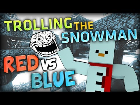 TROLLING THE SNOWMAN - Minecraft Red vs Blue Parkour w/ Baki
