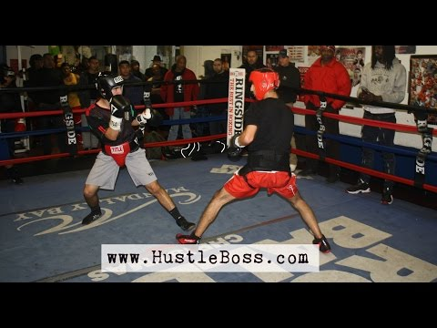 Erik Barsegyan spars Javier Medrano and Santiago Perez [Tocco's First Friday Sparring]