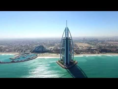 Amazing Dubai Landscapes View from Drone