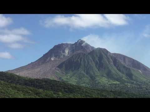 Montserrat Island volcano January 2017 /volume wind