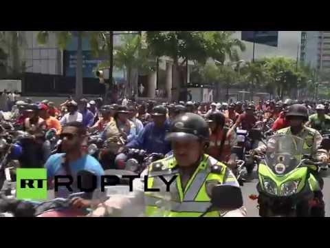 Мотопробег в поддержку Николаса Мадуро в Венесуэле