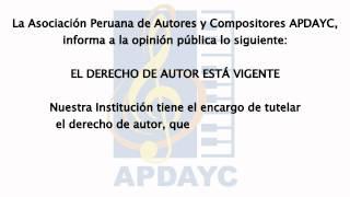 EL DERECHO DE AUTOR ESTÁ VIGENTE -Spot televisivo de APDAYC