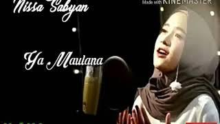 Ya Maulana~Nissa sabyan. Full MP3 (lyrics song video)