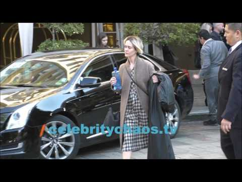 GoldenGlobes winner Sarah Paulson spotted out in beverly hills,california