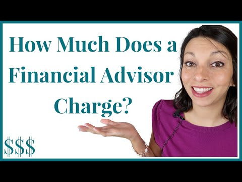 How Much do Financial Advisors Charge