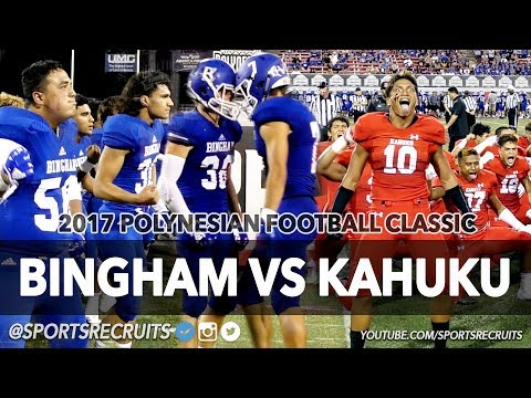KAHUKU VS BINGHAM 💥 UTAH TAKES ON HAWAII: Polynesian Football Classic @SportsRecruits Highlights