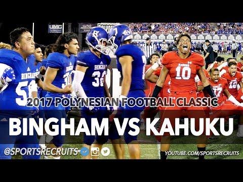 KAHUKU VS BINGHAM 💥 UTAH TAKES ON HAWAII: Polynesian Football Classic @SportsRecruits Highlights