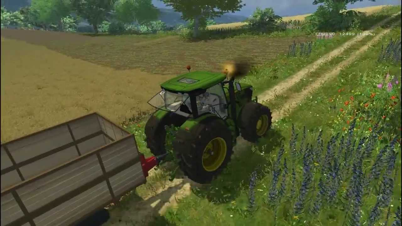 Farming simulator 2013 trebbiatura colza con new holland cr9090 big polish farm youtube