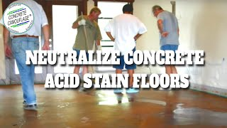 Concrete Staining Guide - 5. How to Neutralize Concrete Acid Stain Floors and Exterior