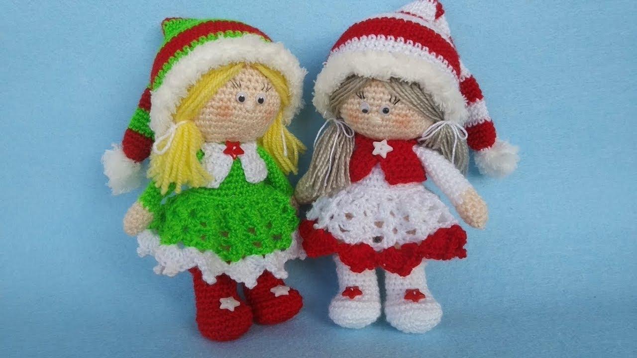 Amigurumi Natale.Bambola Uncinetto Amigurumi Natale Muneca Crochet Navidad Doll Crochet Christmas Youtube