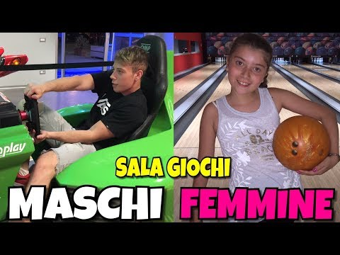 MASCHI VS FEMMINE ALLA SALA GIOCHI