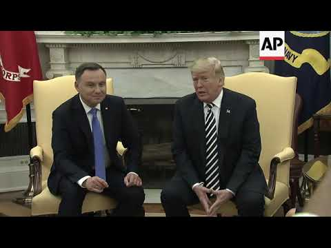 Trump welcomes president of Poland to WH