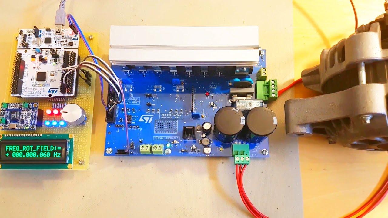 STM32 400V 1kW 3-Phase Motor Controller using STEVAL-IHM023V3