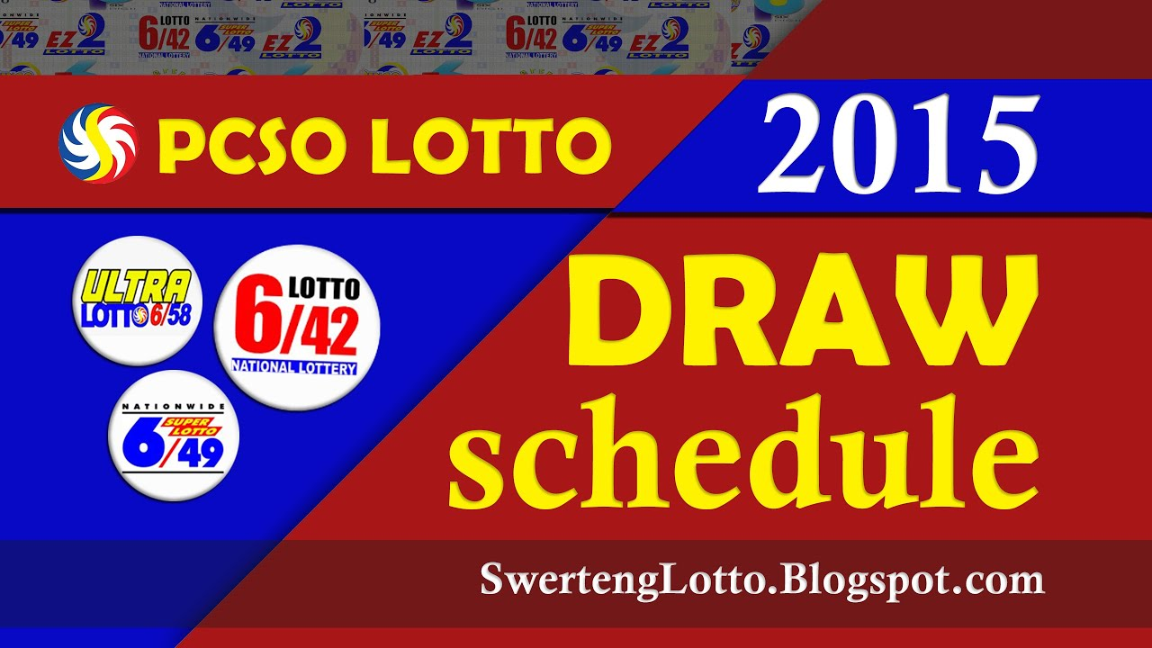 Pcso Lotto Draw Schedule 2015 Philippines