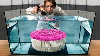 Что, если 1000 непотухаемых спичек поджечь под водой?