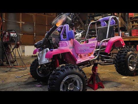 CRF 450 Princess Jeep Runs! And Spits Flames.