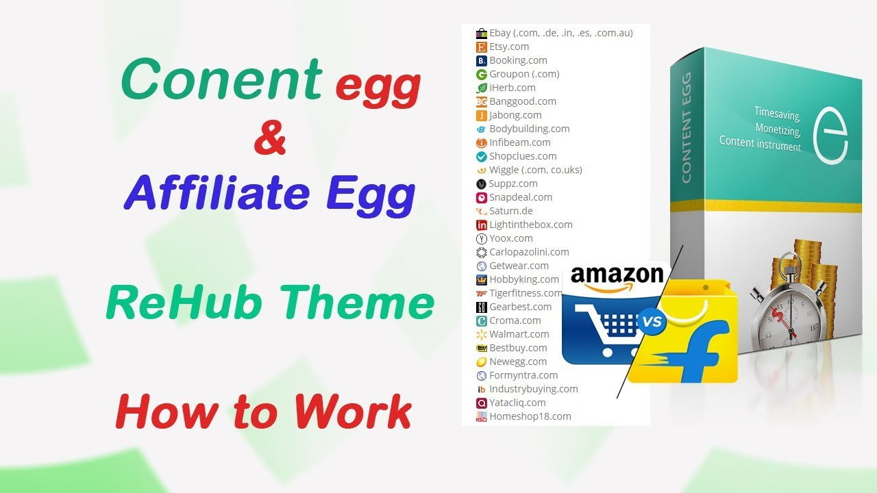 Content Egg and affiliate egg clarification how to work with Rehub theme in  Hindi Language