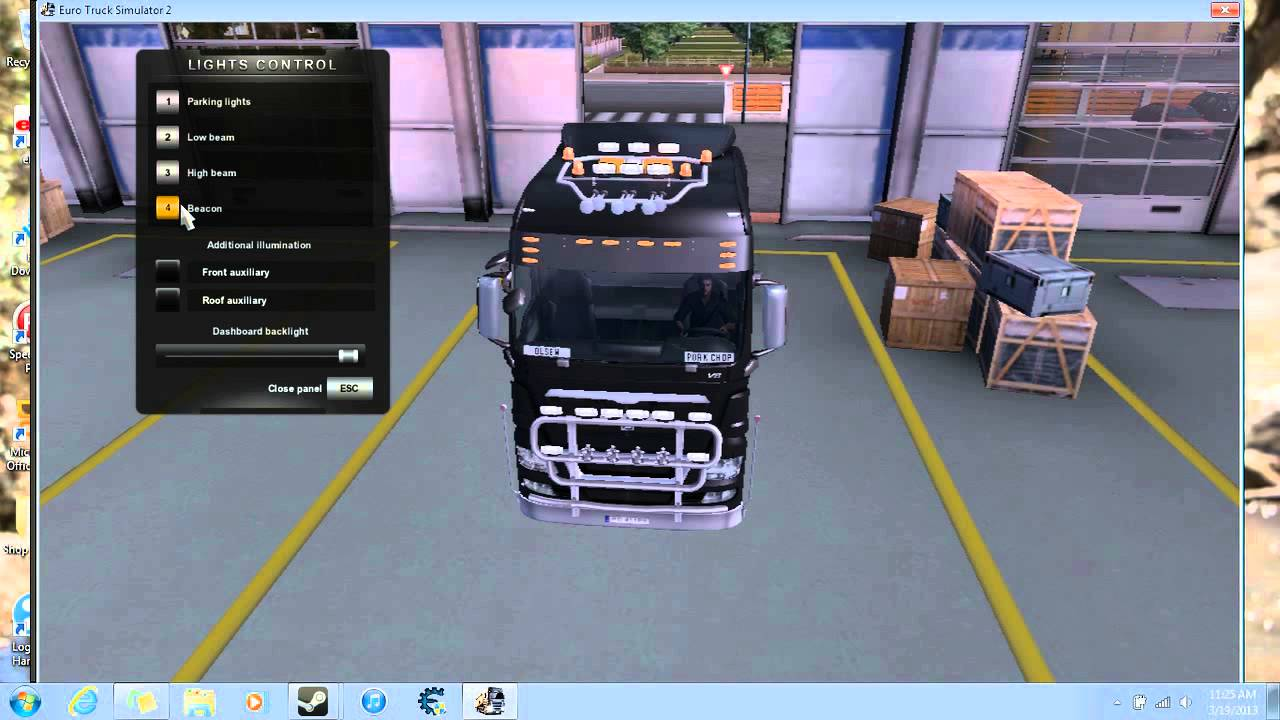 How To Turn On Beacon Lights On In Euro Truck Simulator 2